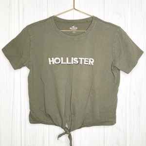 Embroidered Hollister Front Tie Tee Size S
